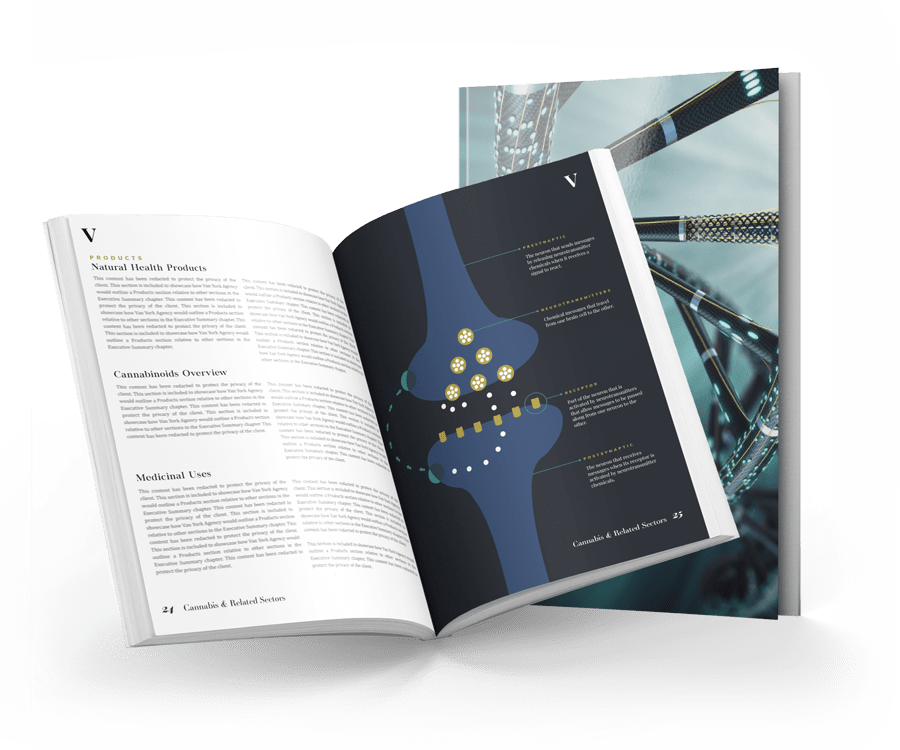 open life sciences business plan with illustration and content