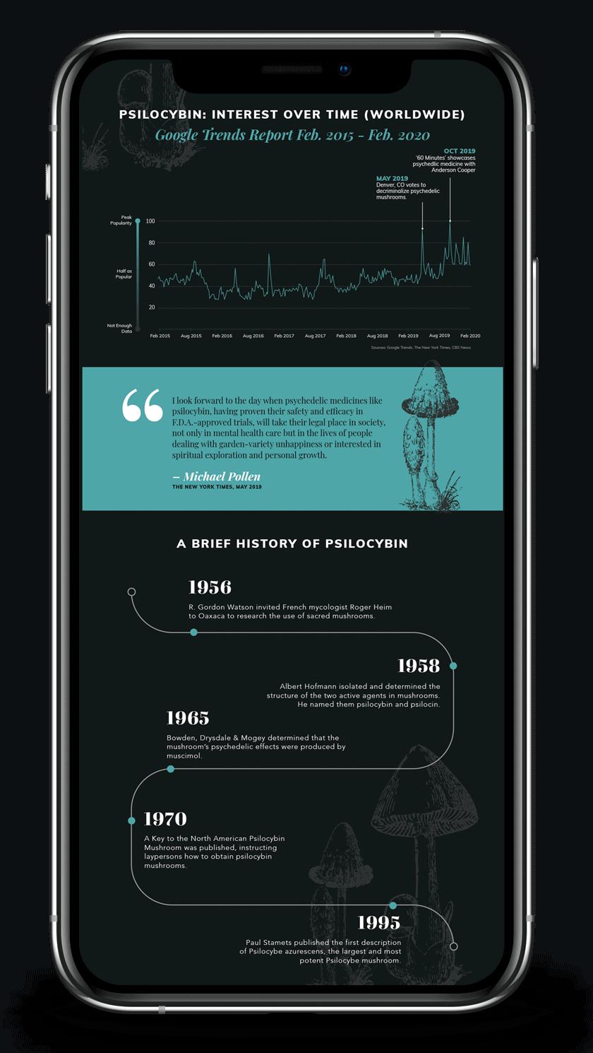 smartphone showing design example